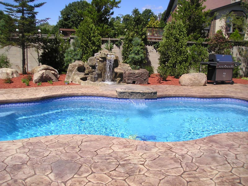 Viking pools of redding swimming pool cascades from - Free swimming pool maintenance software ...