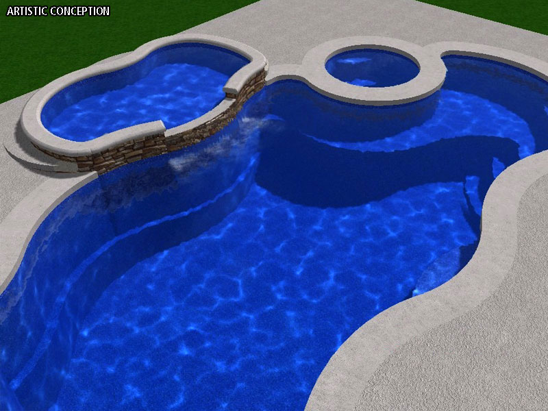 Viking Pools Of Redding Swimming Pool Tanning Ledges